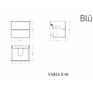 Spintelė su praustuvu Blu VARIA II 9