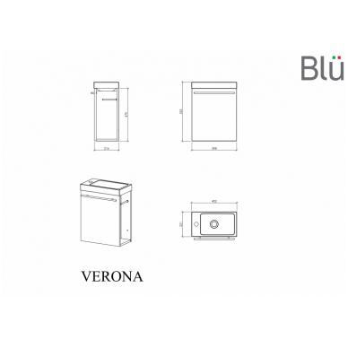 Spintelė su praustuvu Blu VERONA 3