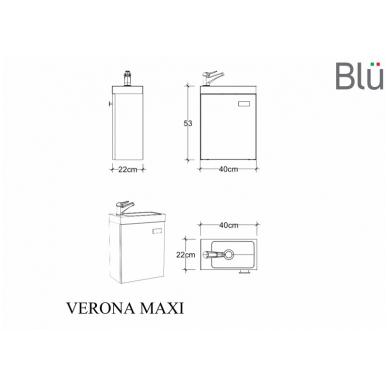 Spintelė su praustuvu Blu VERONA MAXI 2