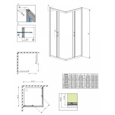 Stačiakampė dušo kabina Radaway Premium Plus C 1900 4