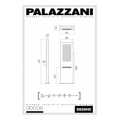 Stacionari dušo galva Mis, Palazzani 3