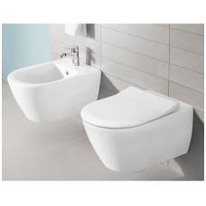 Subway 2.0 WC pakabinamas Direct Flush su sėdyne SlimSeat White Alpin, Villeroy & Boch