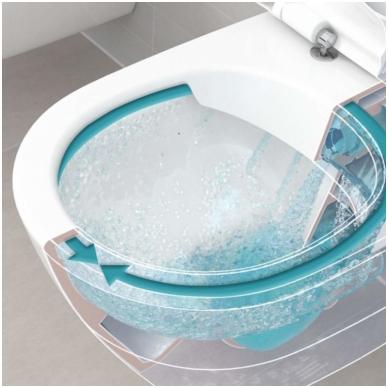 Subway 2.0 WC pakabinamas Direct Flush su sėdyne SlimSeat White Alpin, Villeroy & Boch 3