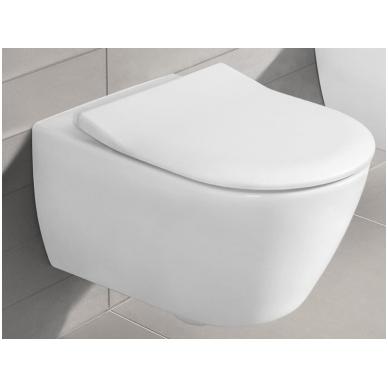 Subway 2.0 WC pakabinamas Direct Flush su sėdyne SlimSeat White Alpin, Villeroy & Boch 4