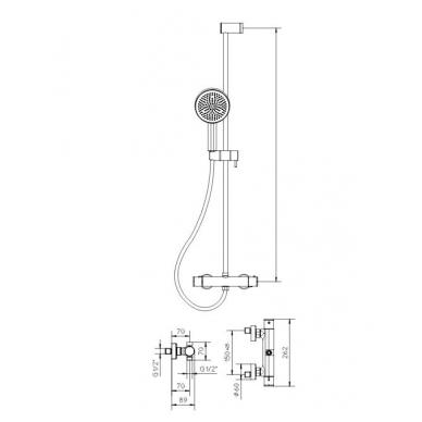 Termostatinis dušo komplektas Palazzani Acquaclima, chromas 2