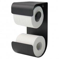 Laikiklis WC popieriui BRIX, juodas, Sealskin