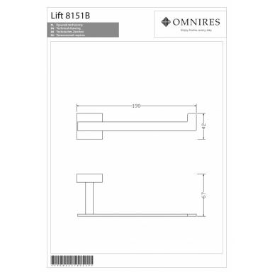 Tualetinio popieriaus laikiklis OMNIRES LIFT 2