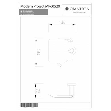 Tualetinio popieriaus laikiklis OMNIRES MODERN PROJECT 2