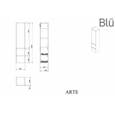 Ūkinė spintelė Blu ARTE 5