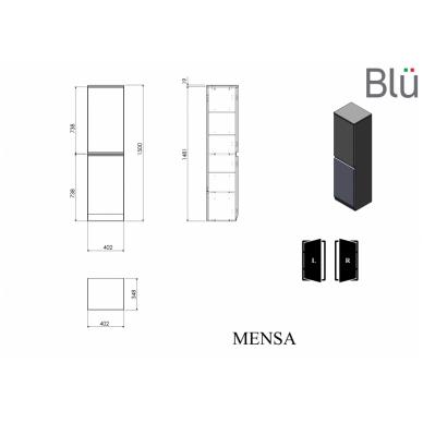 Ūkinė spintelė Blu MENSA 402 2
