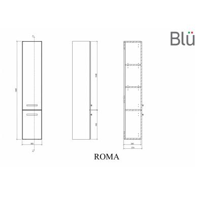 Ūkinė spintelė Blu ROMA 300 3