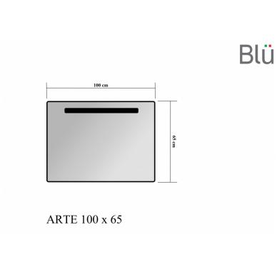 Veidrodis Blu ARTE su LED apšvietimu 1000 2