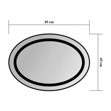 Veidrodis Blu LEON OVAL su LED apšvietimu 850x650 2