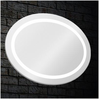 Veidrodis Blu LEON OVAL su LED apšvietimu 850x650