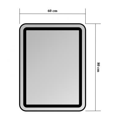 Veidrodis Blu LEON su LED apšvietimu 2