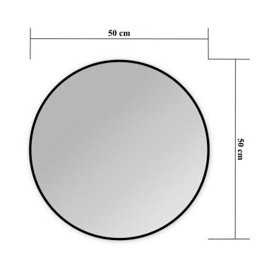 Veidrodis Blu MERIDA ROUND su LED apšvietimu 2