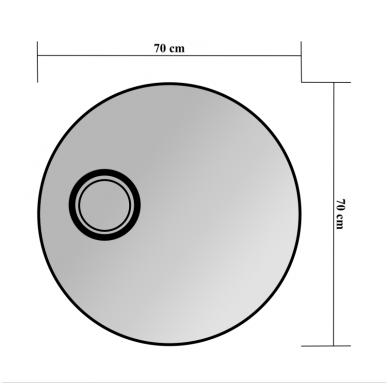 Veidrodis Blu MONDO ROUND su LED apšvietimu 700 2