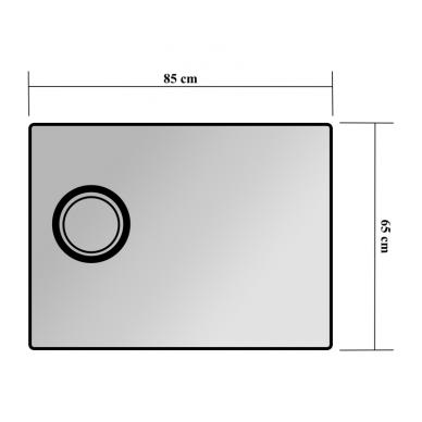 Veidrodis Blu MONDO su LED apšvietimu 850 2