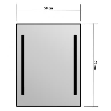 Veidrodis Blu Picolo su LED apšvietimu 2