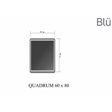 Veidrodis Blu QUADRUM su LED apšvietimu 2