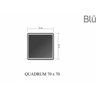 Veidrodis Blu QUADRUM su LED apšvietimu 3