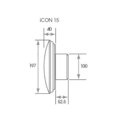 Ventiliatorius ICON 15 Airflow, sidabrinis 2