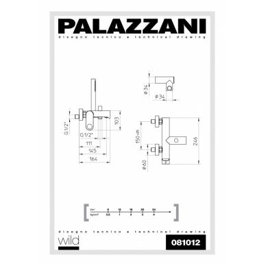 Virštinkinis maišytuvas voniai ir dušui Palazzani Wild 2