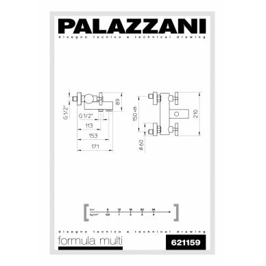 Virštinkinis vonios maišytuvas Formula Multi, Palazzani 2