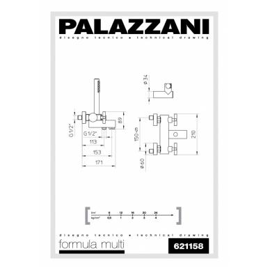 Virštinkinis vonios maišytuvas su dušeliu Formula Multi, Palazzani 2