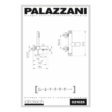 Virštinkinis vonios maišytuvas su dušeliu Idrotech II, Palazzani 2
