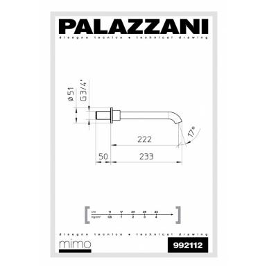 Vonios čiaupas Digit 3 Idrotech 2 Formula Multi Palazzani 2