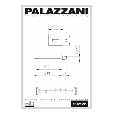Vonios čiaupas Wild Palazzani 2