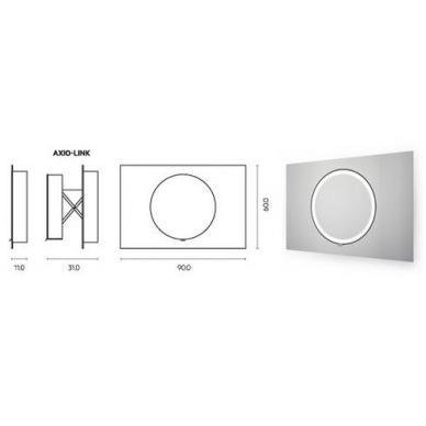 Vonios kambario veidrodis Dot Miior (atitraukiamas) 4