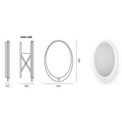 Vonios kambario veidrodis Ella Miior (atitraukiamas) 4