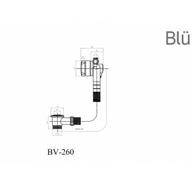 Vonios sifonas su pripildymu per persipylimą Blu 2