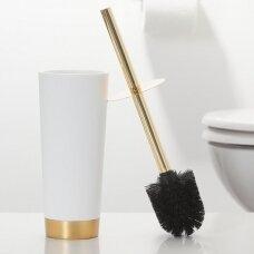 WC šepetys GLOSSY aukso/baltos spalvos, Sealskin